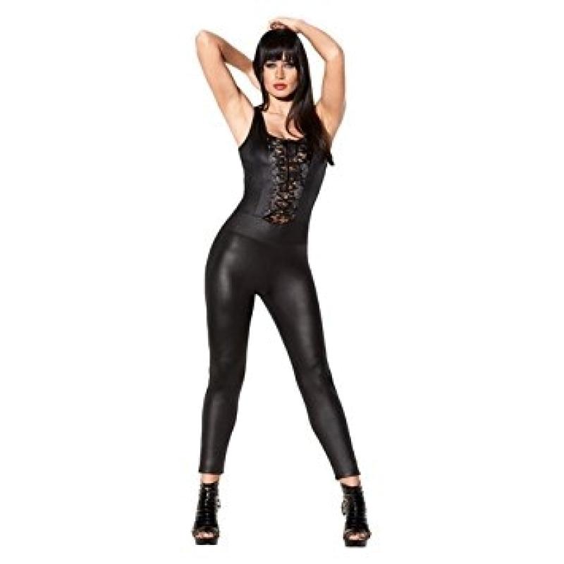 Сексуальний комбінезон Avanza Catsuit Wetlook Black