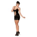 Черное лакированное платье со шнуровкой Avanza, L