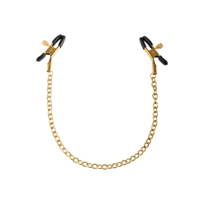 Зажимы для сосков Fetish Fantasy Gold Chain Nipple Clamps