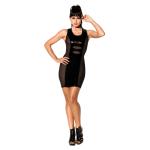 Чорна сукня з лакування вставками Avanza
