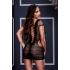 Ажурное мини платье со шнуровкой и маленьким рукавчиком, OS