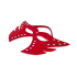 Фігурна маска з заклепками, червона