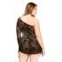 Кружевное мини платье с ассиметрией и стринги Fantasy Lingerie, Xl/ХХl