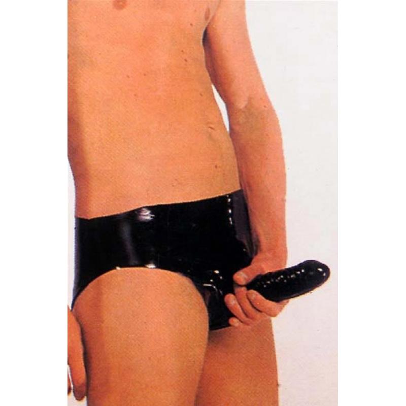 Мужские латексные трусы с внутренним анальным стимулятором Sharon Sloane Latex Anal Pants