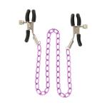 Металеві затискачі для сосків з рожевою ланцюжком Stimulating Nipple Chain Metal