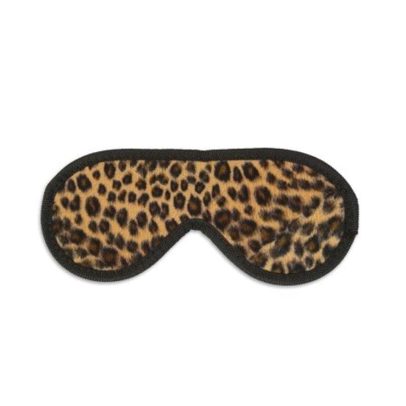 Закрита маска на очі з леопардовим хутром