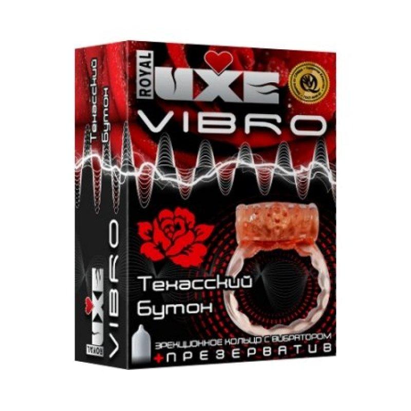 Презерватив и виброкольцо Luxe VibroТехасский Бутон